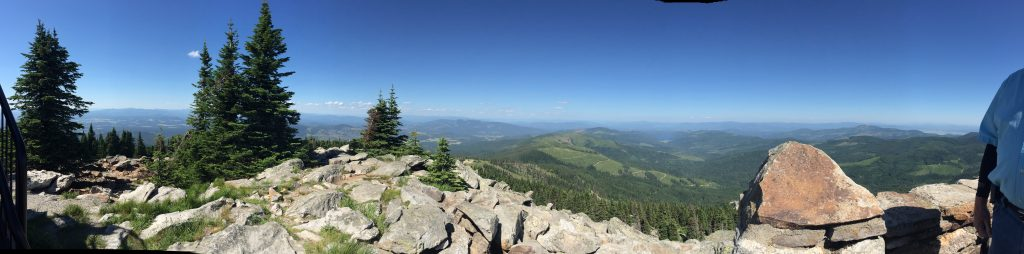Washington State mountaintop view